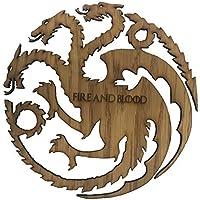 Derwent Laser Craft Game of Thrones inspiriert Set von 4 Gl/äsern 4 Haupthaussiegel