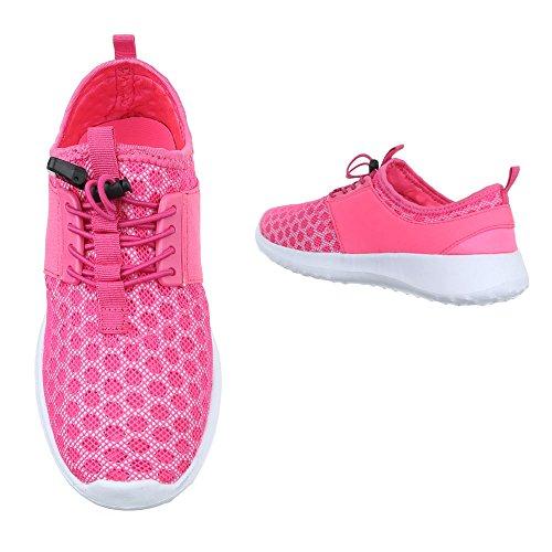 Kinder Freizeitschuhe schuhe Sportschuhe Turnschuhe Sneaker Laufschuhes Low-top Schnürer Grün Schwarz Pink Weiß 28 29 30 31 32 33 34 35 Rosa