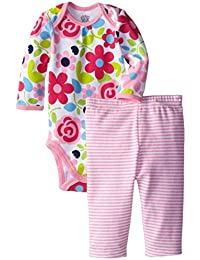 Jockey Baby-Girls Newborn Baby Girl Floral 2-Piece Bodysuit and Legging Set