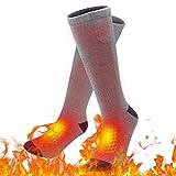 Qweidown Elektrische Socken,lektrische Beheizte Warme Socken Thermal Warm Heated Socks Sneaker Socken Herren Damen schwarz Baumwolle Sportsocken für Fuß wärm eregelungIdeal Fußwärmer (Grau)
