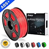 SUNLU ABS Plus 3D Printer Filament, 1.75mm,3D Printing Filament Low Odor Dimensional Accuracy +/- 0.02 mm, 2.2 LBS (1KG),Red