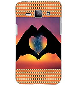 PrintDhaba Quote D-4569 Back Case Cover for SAMSUNG GALAXY J1 (Multi-Coloured)