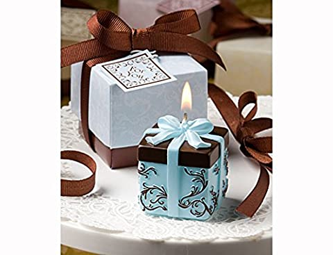 Brown and Blue Gift Box Collection candle