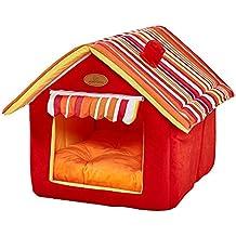 GetDoll Suave Interior Mascota casa Lavable Perro Cueva Cama extraíble cojín caseta Muebles portátil Plegable para