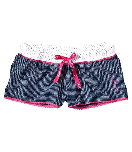Mustang Damen Pyjamahose Schlafanzughose kurz Shorts Isla 6095 Navy / White