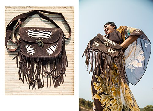 Indimoide - Sacchetto donna Brown with zebra print