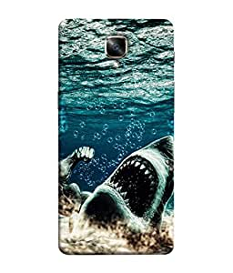 PrintVisa Designer Back Case Cover for OnePlus 3 :: OnePlus Three :: One Plus 3 (The Shark Got Hurt Design)