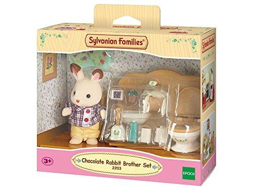 Sylvanian Families - Set hermano conejo chocolate con baño (Epoch 2203)