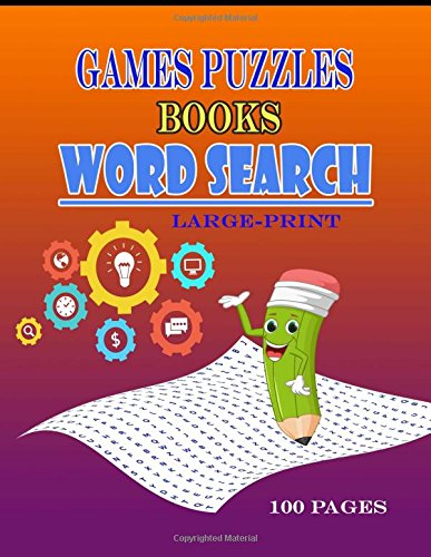 Games Puzzles Books Word Search Large-Print: Brain Games Word ,Search Puzzles ,boosting entertainment for adults and kids por kham mul