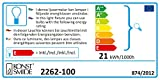 Konstsmide 2262-100 Holzleuchter, naturfarben/für Innen (IP20) / 230V Innen / 7 klare Birnen/weißes Kabel