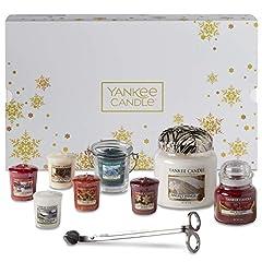 Idea Regalo - Yankee Candle Confezione Regalo Natalizia con Candele Profumate e Accessori, Angel's Wings, Bianco/Oro, 11 Pezzi