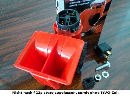12V Auto PKW LKW Fanfare Druckluft 178db 2-Hupe Lufthorn mit Kompressor Horn【DE】