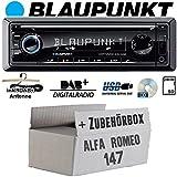 Alfa Romeo 147 Silber - Radio BLAUPUNKT Dortmund 230 DAB - DAB+ | CD | USB Autoradio - Einbauset