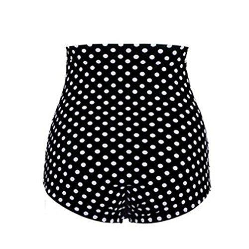796ebbf25ed7 Gigileer Damen Elegante   Figurumspielende   Minimizer Bikini Hose   High  Waist Bikinihose   Slip schwarz