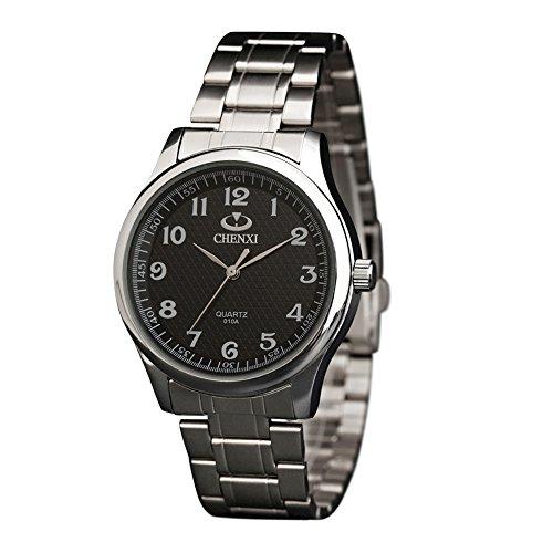 Uhren für Herren Edelstahl Sport Analog Quarzuhr Wasserdichte Mode Casual Luxus Casual Armbanduhren Minimalistische Schlicht Elegant Design
