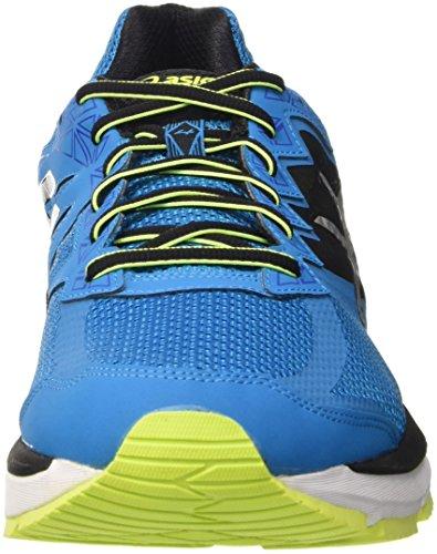 Asics Gt 2000 4, Chaussures de Running Entrainement homme Bleu (Blue Jewel/Black/Safety Yellow)