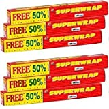 #2: Hindalco Superwrap Aluminium Foil 20g + 10g (Pack of 6)