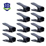 Chairlin Shoe Slots Holder,Adjustable Shoes Slots Space Saver,Shoe Slots Organizer,Shoe Rack Set,Shoe Slots 10 PCS Black