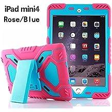 iPad Mini Case para niños, y & M (TM) araña Pepkoo Militar extrema resistente polvo/A prueba de golpes con soporte tablets híbrida carcasa rígida para colgar ejército funda para iPad Mini 4