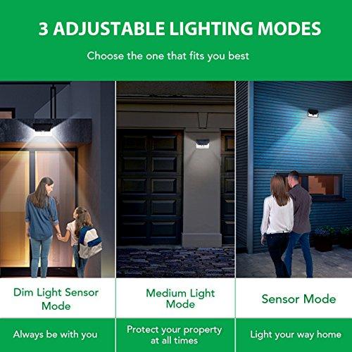 Mpow 24 LED Weitwinkel Solarleuchten, Bewegungs-Sensor-Licht für Garten - 8