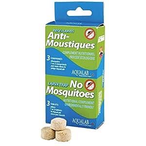 HBM Anti-Moustiques 005-PR-RAC009 - Ricarica per antilarva/ antizanzare Aqualab, durata: 1-2 mesi