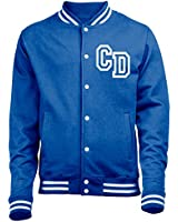STEP PERSONALISED COLLEGE JACKET WITH FRONT INITIAL PRINT (ROYAL BLUE) by 123t