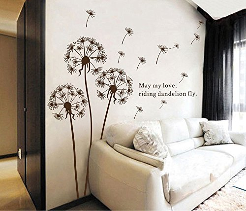 Sangu Love Dandelion Fly Removable Mural Wall Stickers Wall Decal for Home Decor by Sangu