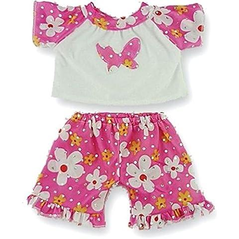 Construya su Bears Armario de 15 pulgadas Teddy Bear Ropa caramelo de la mariposa pijama pijama Fit Construye Oso peluches