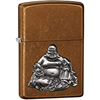 Zippo Buddha Emblem Lighter - Toffee