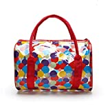Lucky Will Ladies Girls Polka Dots Jelly Transparent PVC Beach Handbag Waterproof Swimming Cosmetic Storage Tote Bag