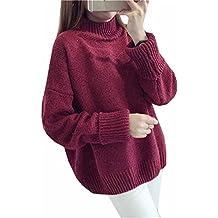 95d26162e1050c Haroty Maglione Maglia Donna Larghi a Maniche Lunghe Pullover Elegante  Invernali e Autunno Maglioni Casual Unicolor
