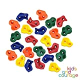 #5: 25 Textured Rock Climbing Holds for Kids with Installation Hardware - Climbing Rocks For Your DIY Rock Wall