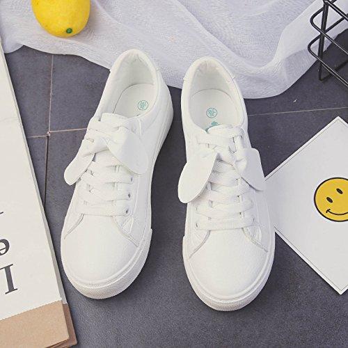 Bianco bianco piatta scarpe Wuyulunbi molla La Iqx4q1XE7w