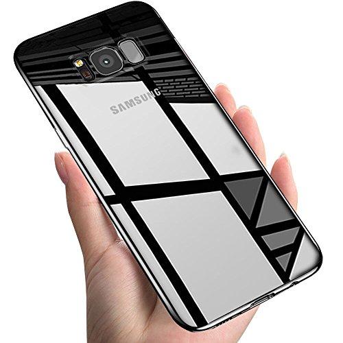 Samsung Galaxy S8 Schutzhülle , Vitutech Handyhülle Galaxy S8 Silikon Bumper Case Anti-Scratch Case Cover Premium Kratzfest TPU Ultra Dünn Anti-Shock Weiche Samsung Galaxy S8 Hülle- Schwarz
