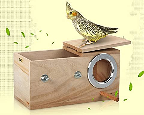 Midmade Cockatiel Breeding Nesting Bird Avery - Cage Box Wooden House for Parrot