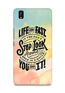 AMEZ life moves pretty fast Back Cover For OnePlus X
