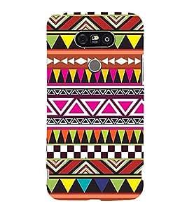 Printvisa Premium Back Cover Ethnic Multicoloured Pattern Design For LG G5::LG G5 Dual H860N with dual-SIM card slots