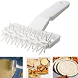 Plastic Dough Lattice Cutter/Embossing Dough Docker Puncher,Needle Roller Wheel Hole Punch/Hobbing DIY Baking Tool for Pie Pizza Cookie Noodle Craft Pastry (14cmX12cmX6.5cm)