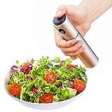 Spruzzatore di olio d'oliva Dispensatore d'olio Trigger d'olio Bottiglia d'aceto spray per barbecue, cottura e produzione di strumenti per la stagionatura degli utensili da cucina (Stainless-steel)