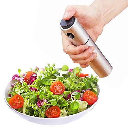 Dispensador de aceite de aceite de oliva Dispensador de aceite Dispensador de aceite Botella de spray de vinagre para barbacoa, cocinar y hacer aderezo de ensalada Herramientas de cocina (Stainless-steel)
