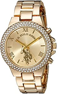 U.S. Polo Assn. Women's Quartz Watch, Analog Display and Gold Plated Strap USC4