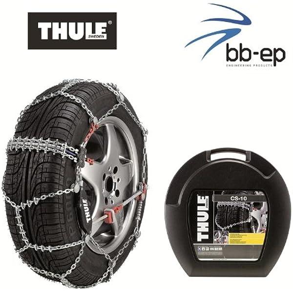Thule Premium Schneeketten Cs 10 Für Die Reifengröße 215 65 R16 Kettenglieder 10 Mm Mit Icebreaker System Auto