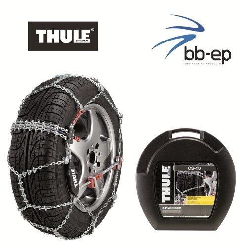 Catene da neve di qualità premium, thule cs 10, per le dimensioni pneumatici 205/50r17,maglie delle catene 10mm, con ice breaker system