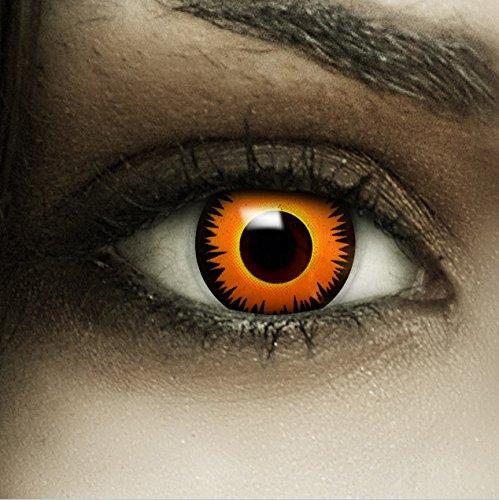Farbige orangene Kontaktlinsen