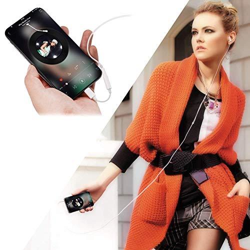 Headphone Adapter, 3,5 mm Kopfhörer Adapter für Phone 7/7plus Phone 6/6Plus. Earphone Connector auf 3,5 mm AUX Audio Jack Kopfhörer Extender Jack Stereo - Unterstützt IOS 10,2 (weiß) - 6