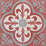 4 echte Zementfliesen altrosa - Handarbeit - Bodenfliesen Vintage Neubau Altbau