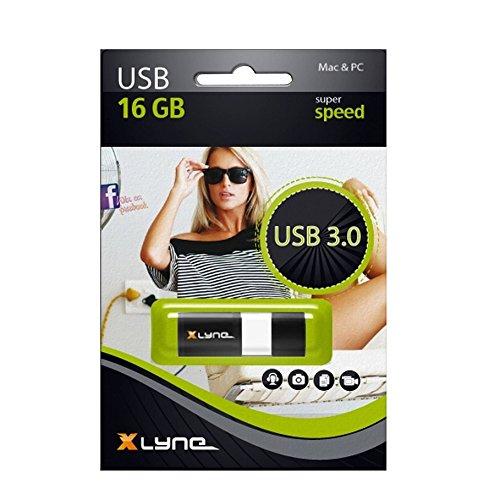 XLYNE WAVE USB Stick │16GB│USB 3.0 – Speicherstick │Push&Pull Mechanismus │Windows, Mac, Linux