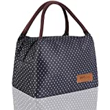 HOMESPON Lunch Bag Cute Cool Bag for Lunch Boxes Waterproof Fabric Foldable Picnic Handbag for Women, Adults, Students