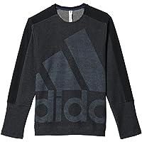 Adidas Atc Logo Crew Felpa per Uomo, Nero/Grigio (Nero/Griosc), S