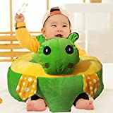 Grand Collections Baby Training Support Seat Luxurious Soft Baby Sofa Infant Baby Learning To Sit Chair Toy - Green Rabbit